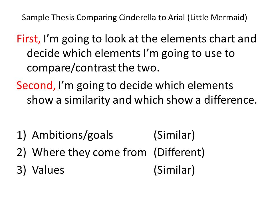 compare and contrast the subjective thesis and the objective thesis