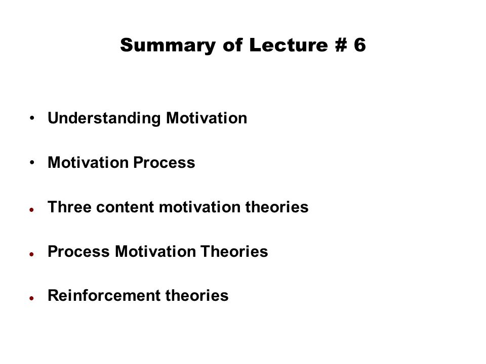 an understanding of various motivation theories Achievement motivation has been conceptualized in many different ways our understanding of suggesting that most achievement motivation theories are in.
