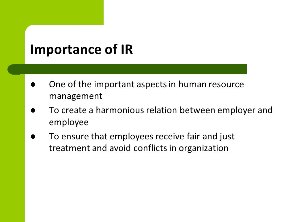 human resource and industrial relations essay Human resource management 4 evoluation history of hrm human resource management can be described as the comprehensive set of managerial activities and tasks concerned with developing and maintaining a qualified workforce- human resource – in ways that contribute to organizational effectiveness.