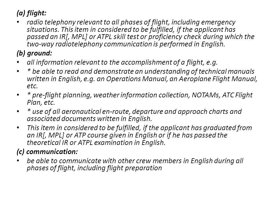 (a) flight: