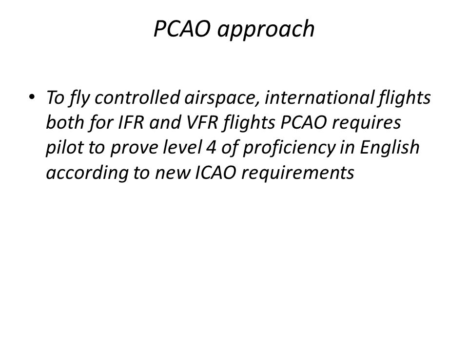 PCAO approach