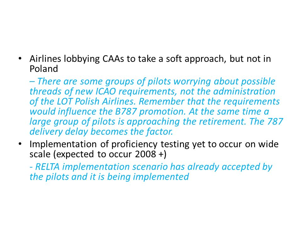 Airlines lobbying CAAs to take a soft approach, but not in Poland