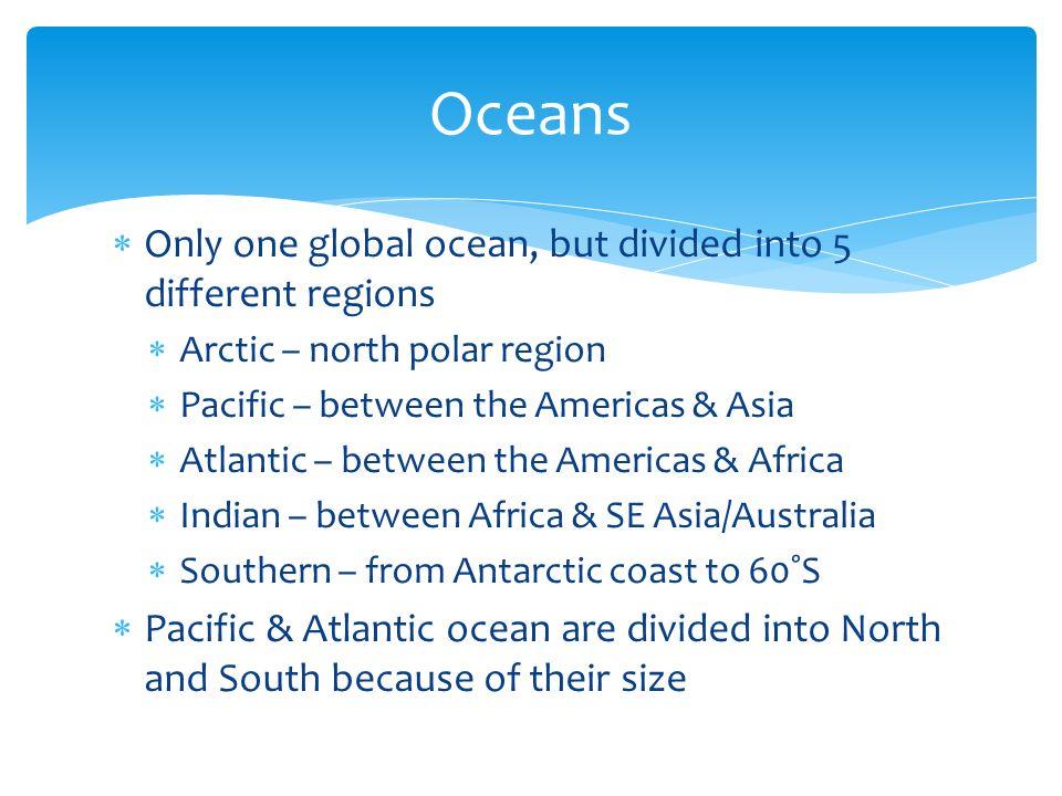 Continents Oceans Hemispheres Latitudelongitude Ppt Video - 5 different oceans