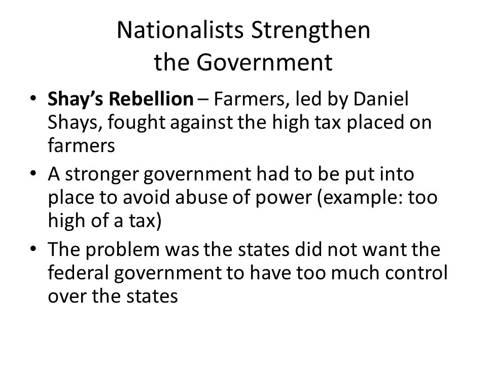Nationalists Strengthen the Government