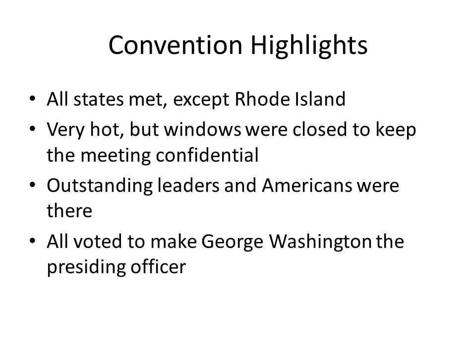 Convention Highlights