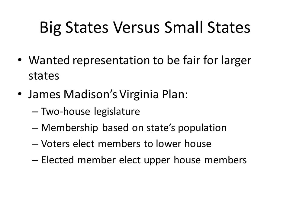 Big States Versus Small States