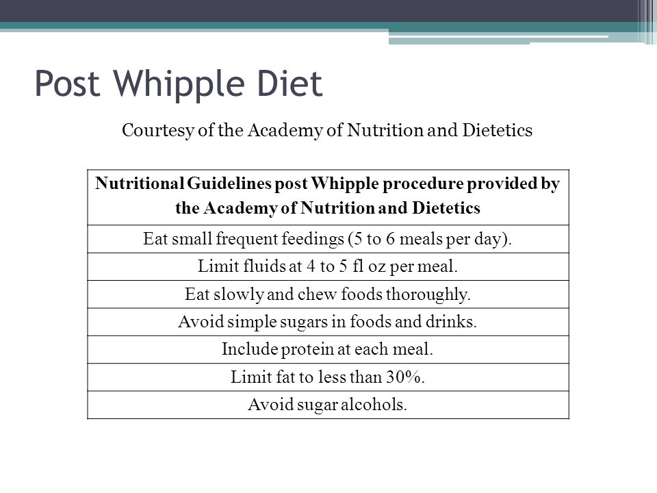 an overview of the whipples procedure and the dietetic intern Dietetic internship preceptor handbook introduction to the preceptor handbook sexual assault / harassment policy and procedures overview.