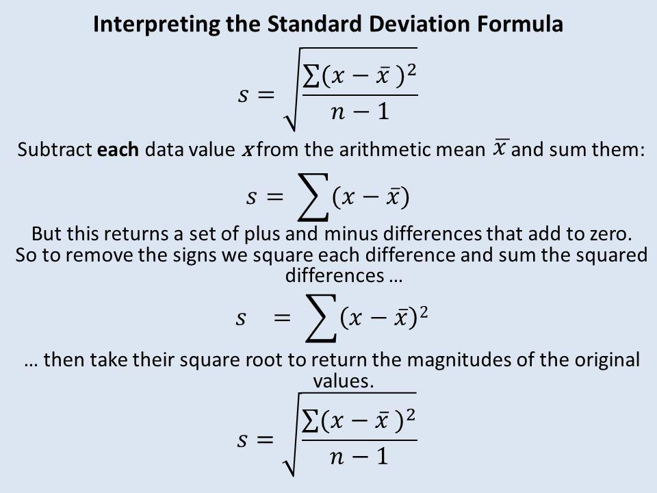 Measures of dispersion ppt video online download interpreting the standard deviation formula ccuart Choice Image