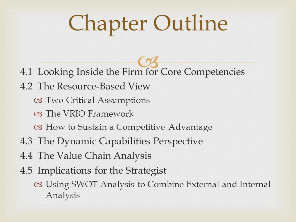 Making use of resources capabilities and core competences essay