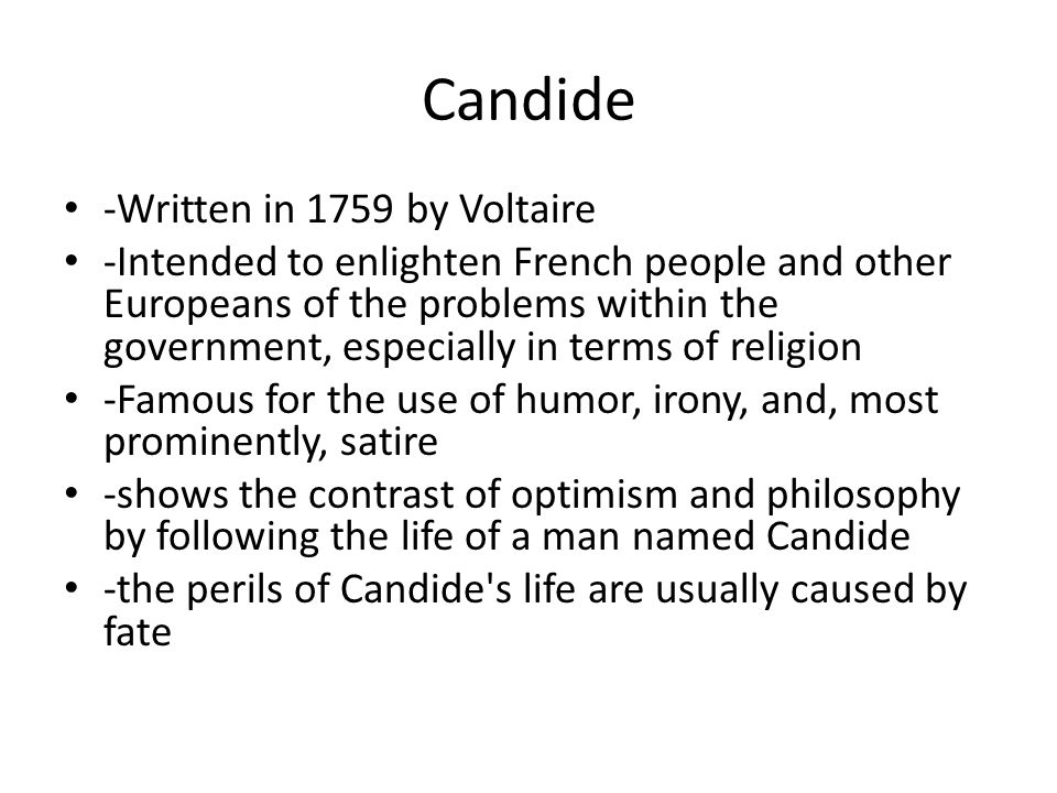 Presentation of philosophical optimism in candide by voltaire