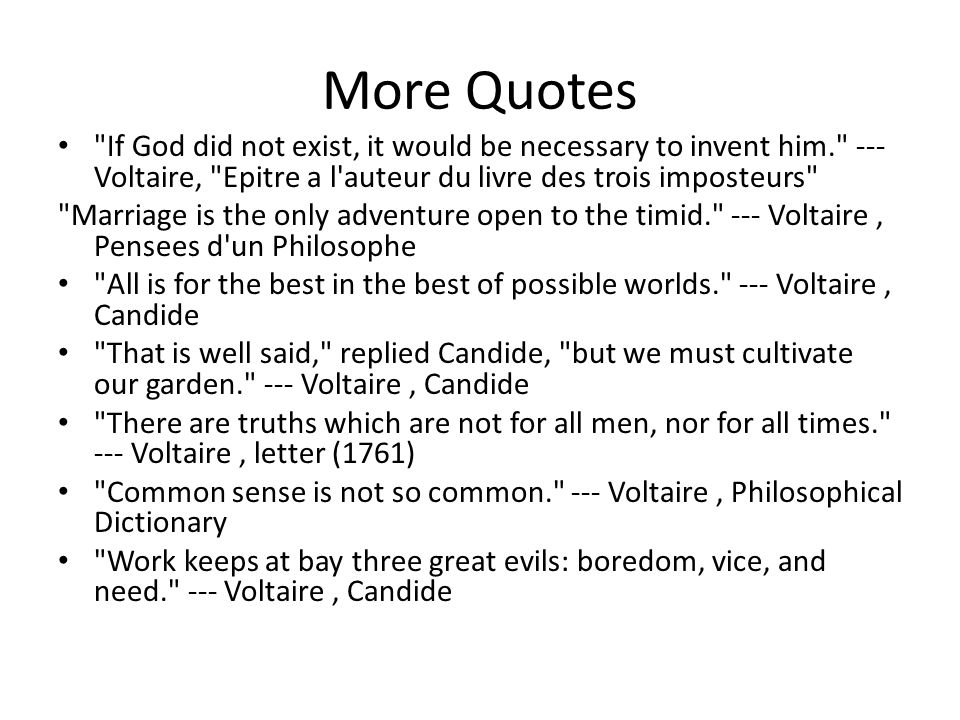 an overview of the philosophy of voltaires candide Struggling with themes such as philosophical viewpoints in voltaire's  candide  by voltaire  intro summary  philosophy is portrayed as the  antithesis of virtue, as seen when candide chooses to listen to pangloss's  interpretation of.
