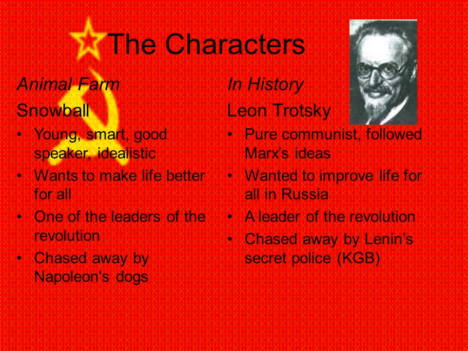 the leader of animal farm Animal farm (1946) is an anti  a pig, and the leader of the animals before the revolution  possibly the most intelligent animal on the farm,.