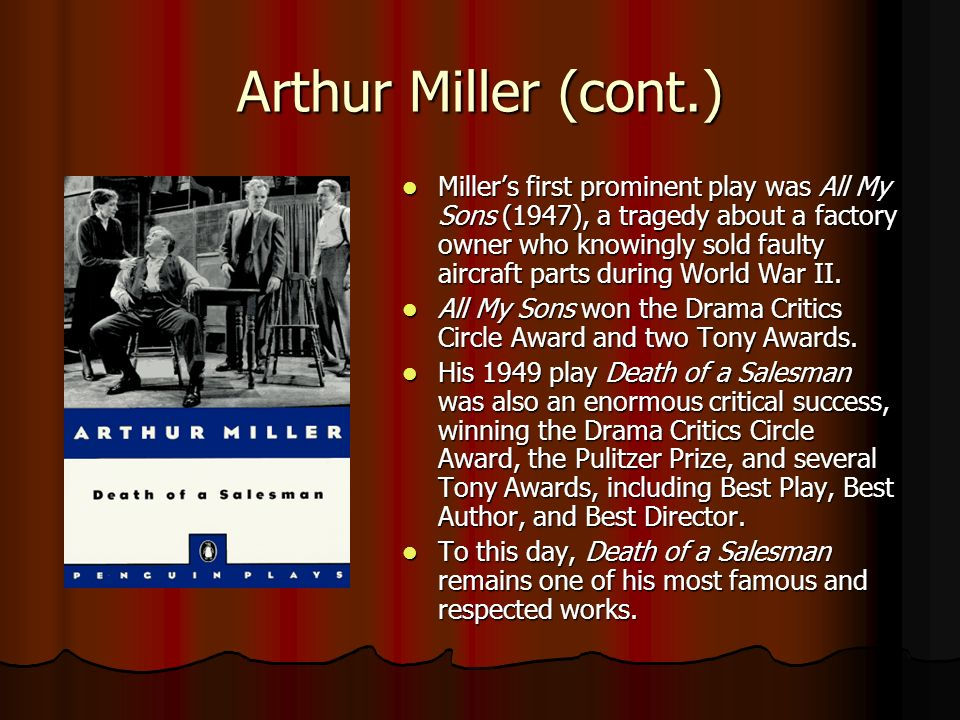 the problem of escapism in the play death of a salesman by arthur miller A short arthur miller biography describes arthur miller's life, times, and work also explains the historical and literary context that influenced death of a salesman.