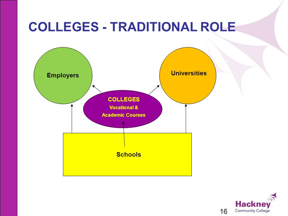 COLLEGES - TRADITIONAL ROLE
