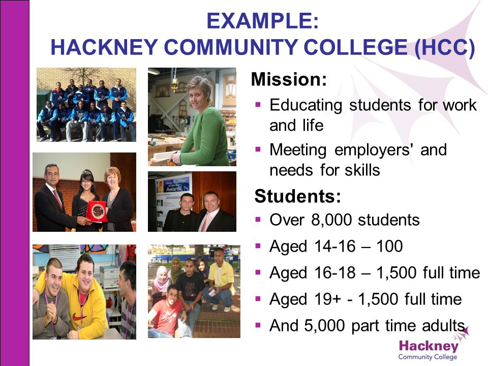 EXAMPLE: HACKNEY COMMUNITY COLLEGE (HCC)