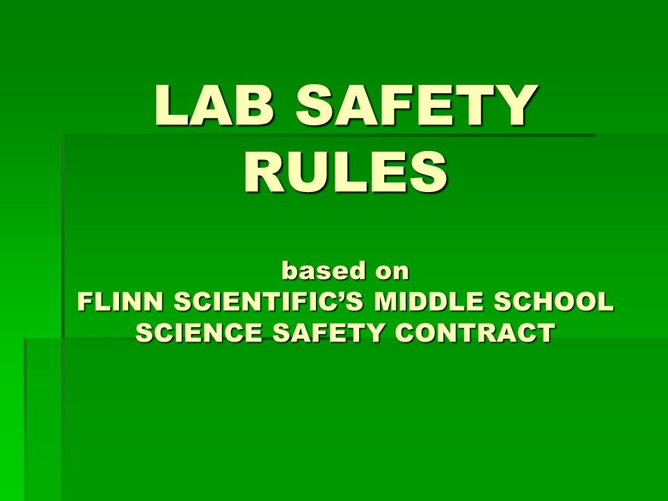 Lab Safety Science Activities Are Potentially Hazardous