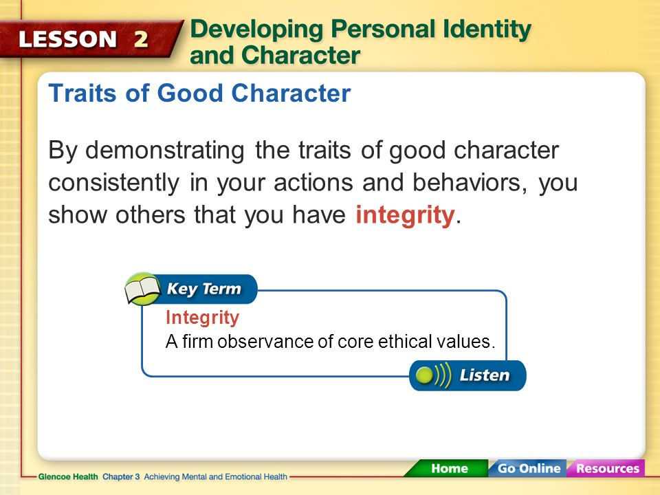 Traits of Good Character