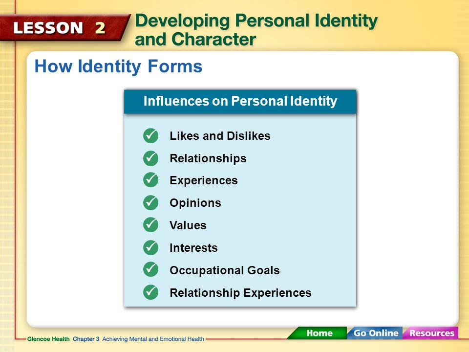 Influences on Personal Identity