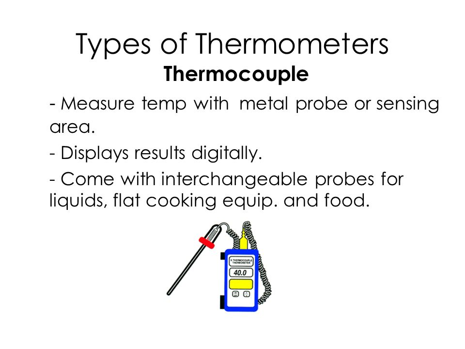 instructions for the use sanitation and calibration of food thermometers