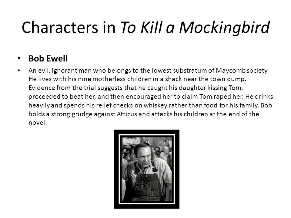 the characterization in to kill a mockingbird Need help on characters in harper lee's to kill a mockingbird check out our detailed character descriptions from the creators of sparknotes.