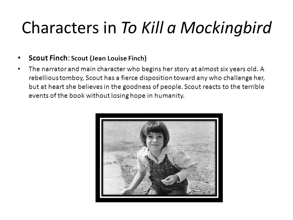 scout to kill a mockingbird characterization