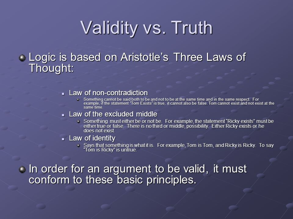 Law of thought