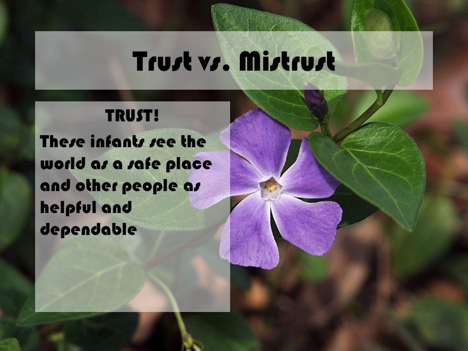 Trust vs. Mistrust TRUST!
