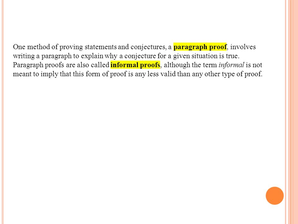 how to write a paragraph proof in geometry