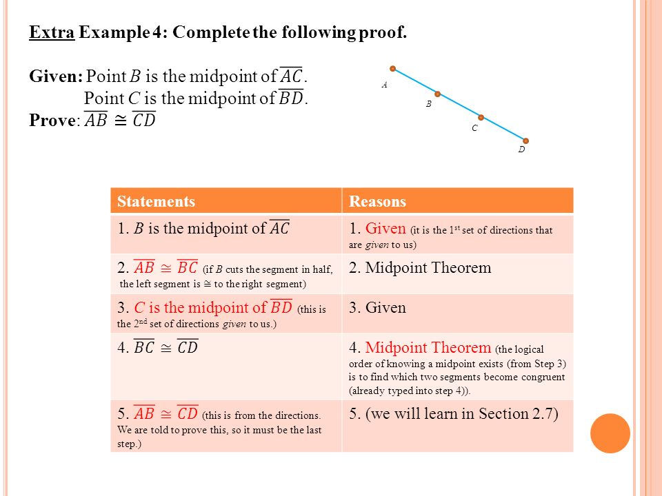 how to find c given midpoint