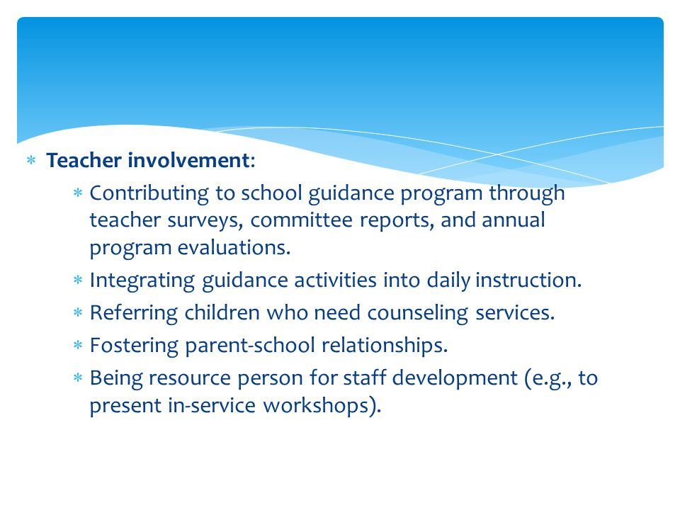 functions of guidance services The scope and functions of the guidance services charles s johnson supervising principal, locust valley the scope and functions of the guidance services.