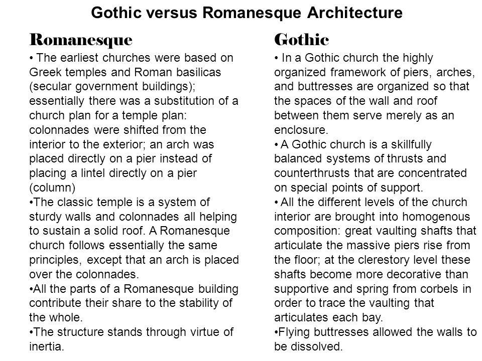 Gothic Versus Romanesque Architecture