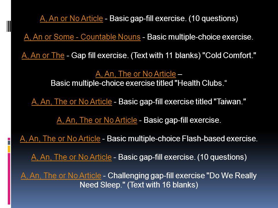 uncountable nouns exercises