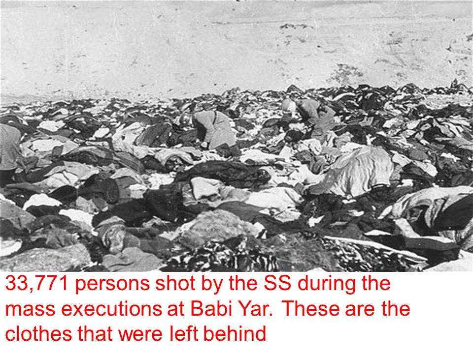 33,771 persons shot by the SS during the mass executions at Babi Yar