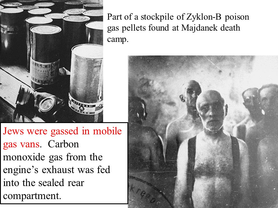 Part of a stockpile of Zyklon-B poison gas pellets found at Majdanek death camp.