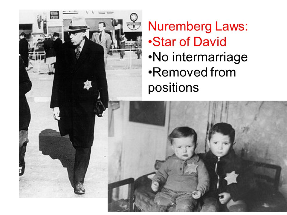 Nuremberg Laws: Star of David No intermarriage Removed from positions