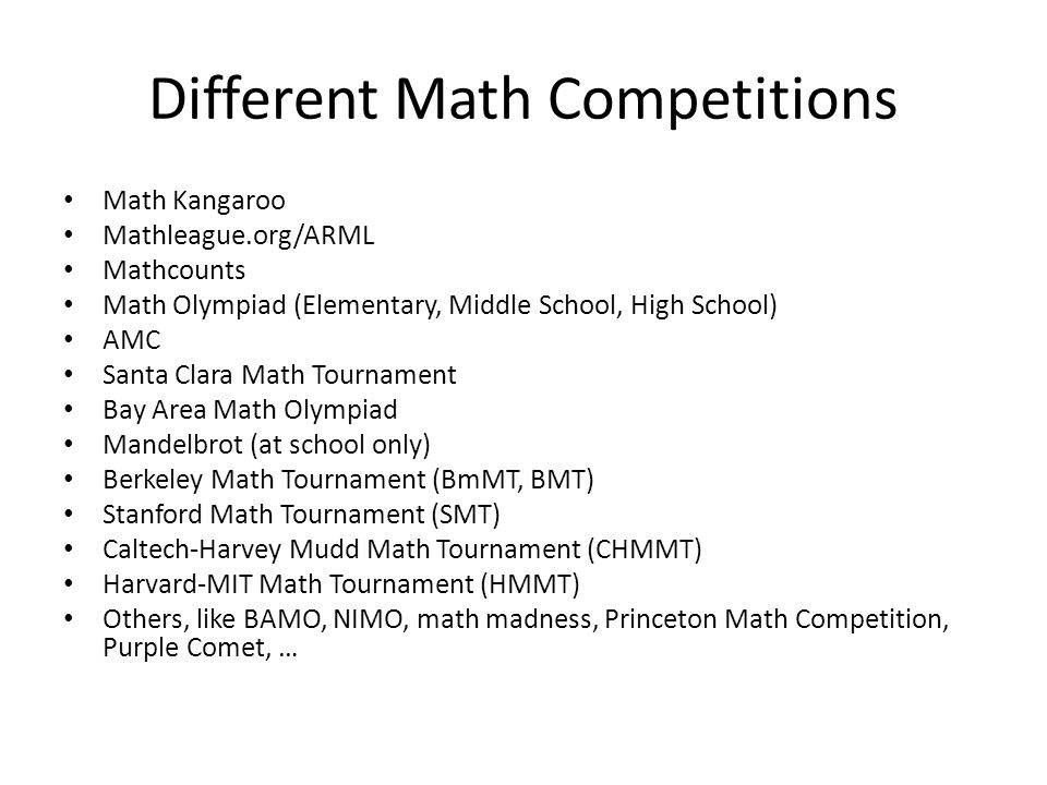 Math Competitions & Math Resources - ppt download