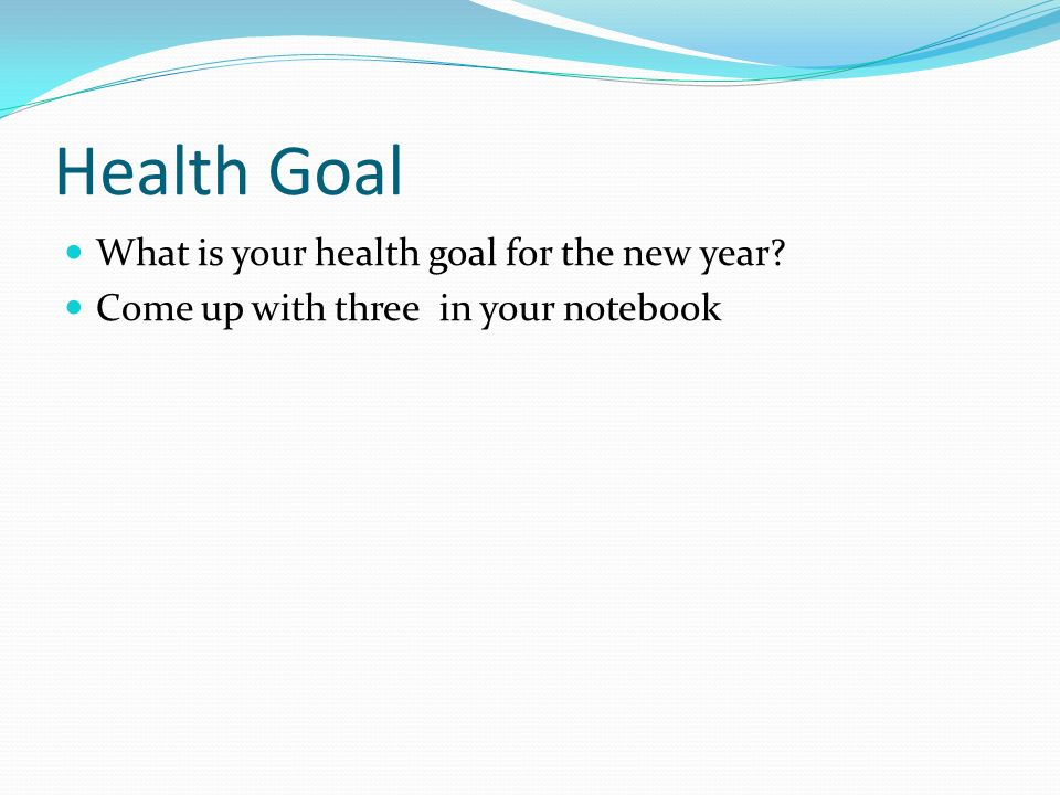 how to build your health goals