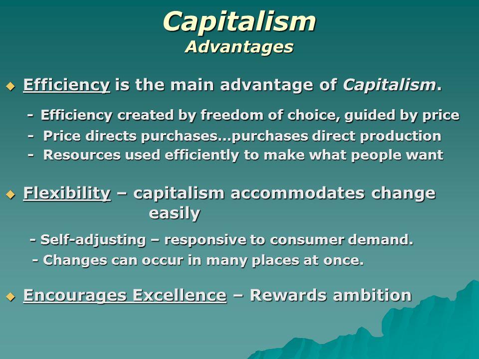 advantages and disadvantages of market capitalism