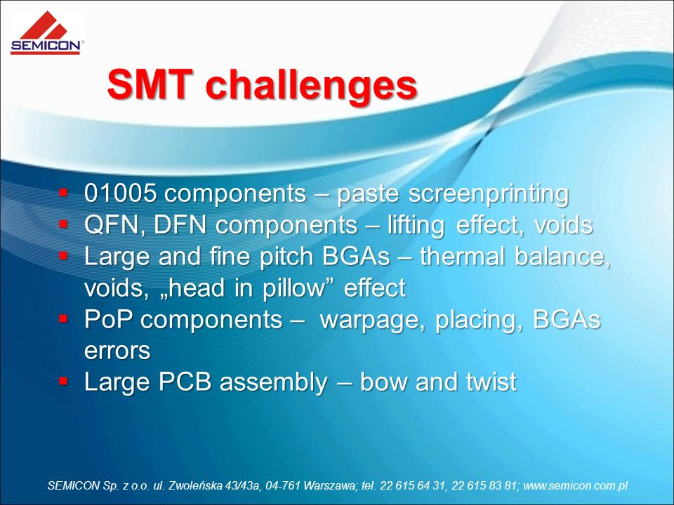 SMT challenges 01005 components – paste screenprinting