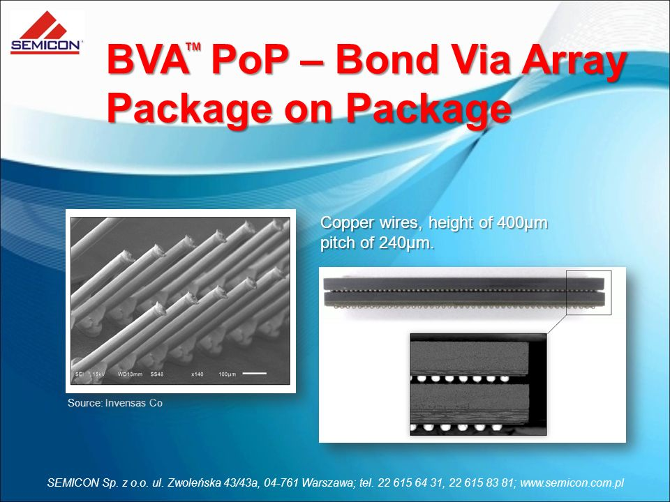 BVA PoP – Bond Via Array Package on Package
