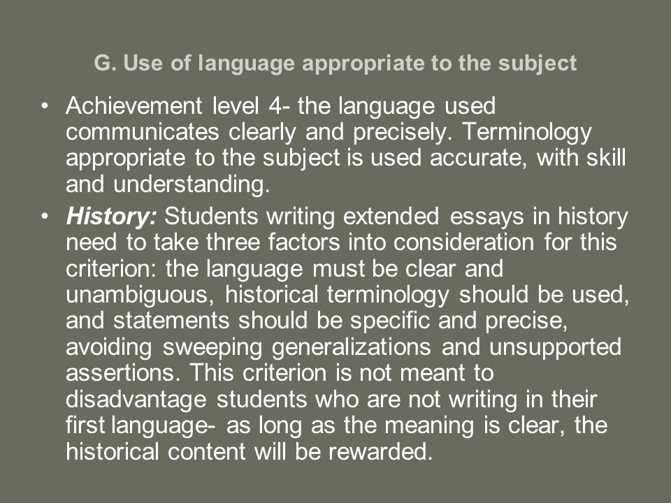icelt appropriate and accurate language The in- service certificate in english language teaching (icelt) is a highly   develop flexible, accurate and appropriate writing skills for communicating.