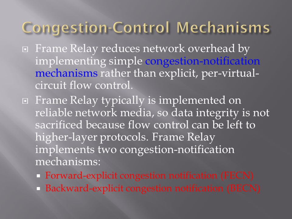 control and mechanisms