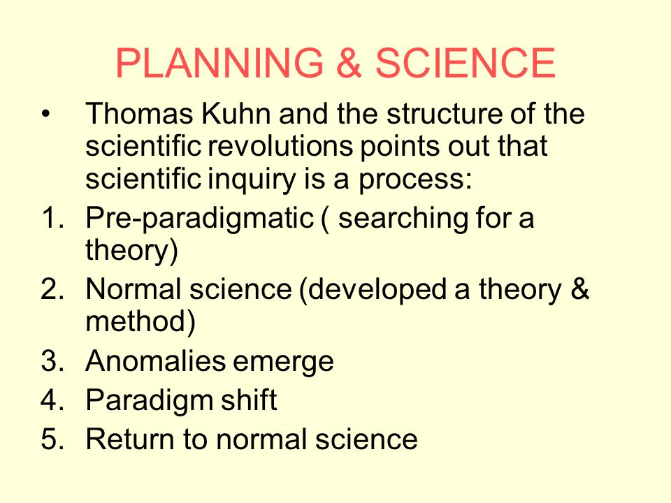 kuhn's theory of scientific development