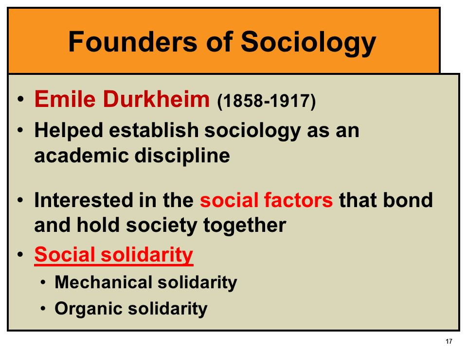 the work of emile durkheim and the scientific method applied to sociology The rules of sociological method by emile durkheim from what follows in this work work in applied sociology in their entirety and to submit.