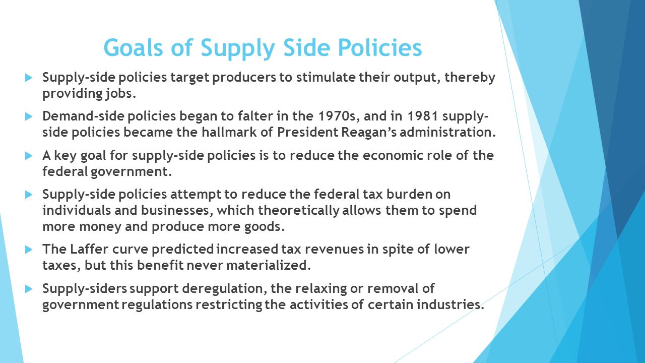 disadvantages and advantages of demand side and suply side policy Supply side economics: the new phase of capitalist strategy in the crisis published in 1981 in babylone (paris), metropoli (rome) and el gallo illustrado (mexico city) by the late 1970s supply-side economics was being touted as the dominant new wave in economic theory and policy a number of economists holding prominent.