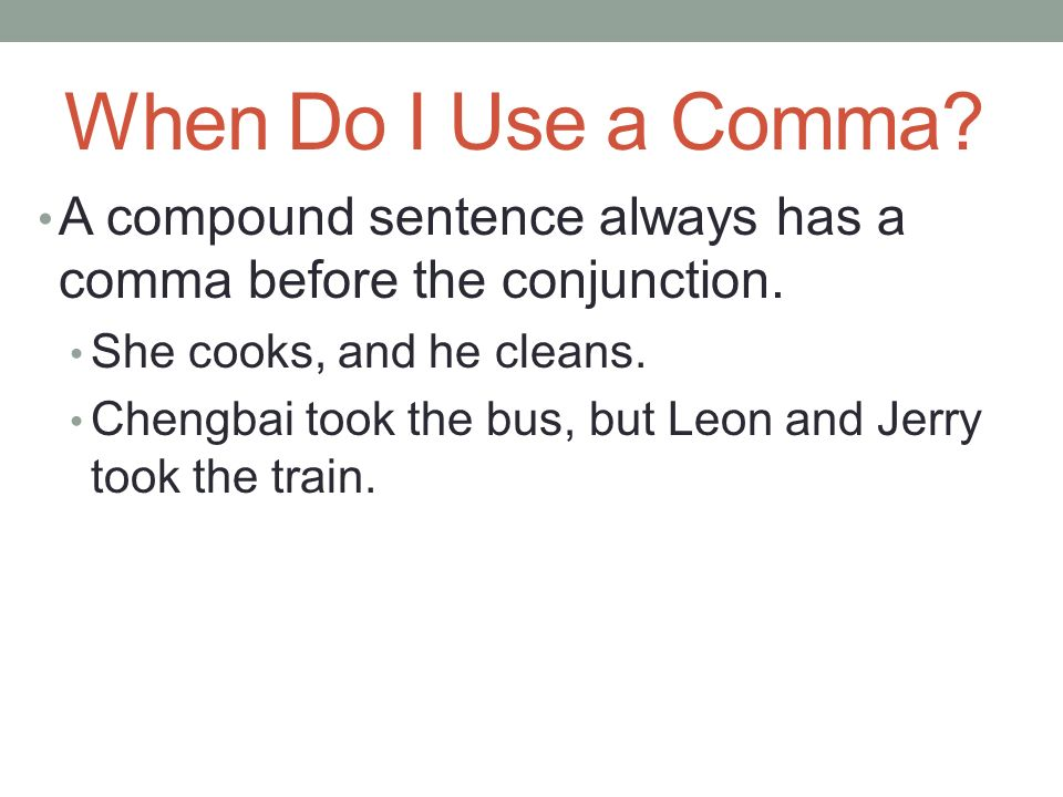 do you put a comma before but