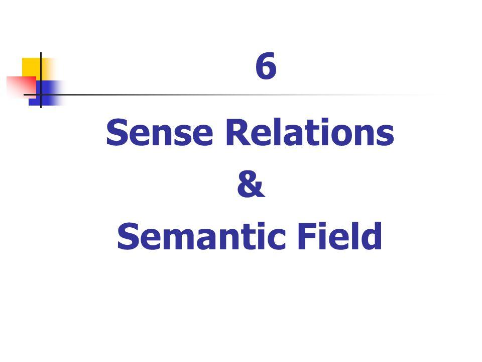 sense relations in semantics pdf