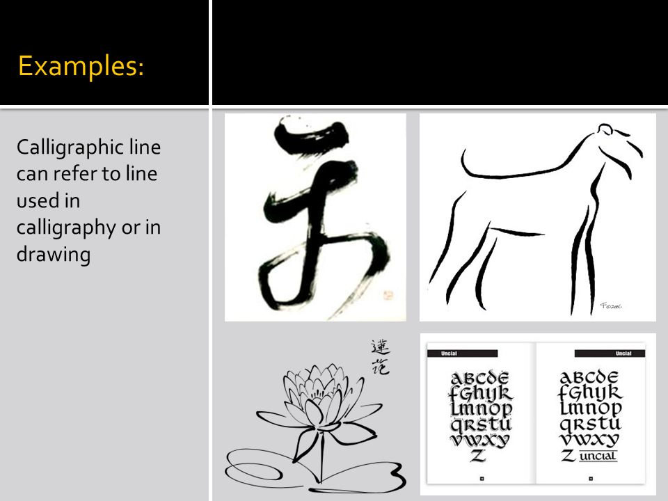Drawing Lines For Calligraphy : Line creating a work of art ppt video online download
