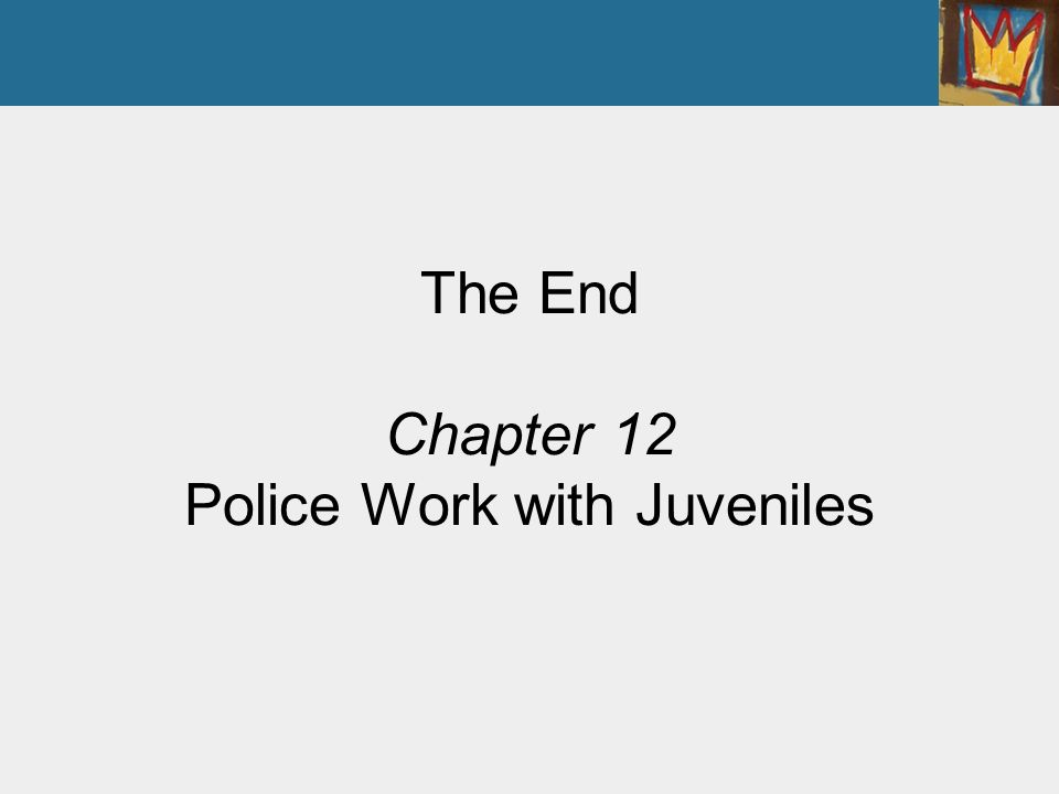 officers working with juveniles The research questions sought to learn how probation officers working with  female juvenile offenders in a rural county describe their roles in the supervision .