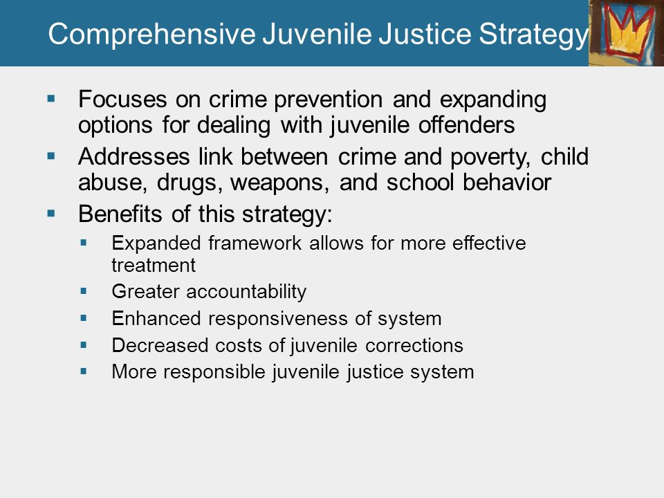 history and future juvenile justice system Compared with other kids with a similar history of bad behavior the history of juvenile justice 1 07/16 cja 374 week 5 team assignment future of juvenile justice system paper and pr cja374uop.